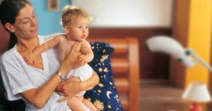 Мама с ребенком и биоптрон